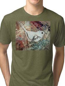 Sepia birdie Tri-blend T-Shirt