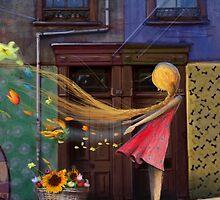 """Valparaiso"" Illustration M.Konecka for ""Destin de carte postale"" by Eric Tchijakoff"