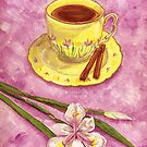 Let's have tea with cinnamon and wild iris by didielicious