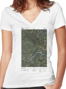 USGS Topo Map Washington State WA Cyclone Creek 20110428 TM Women's Fitted V-Neck T-Shirt