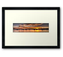 Anchorage - Clareville, Sydney Australia - The HDR Experience                  Framed Print