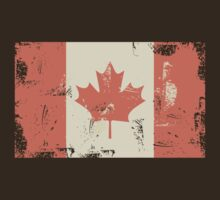 Grungy Canadian Flag by Anastasiia Kucherenko