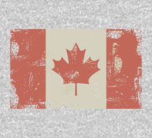 Grungy Canadian Flag Kids Clothes