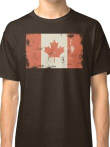Grungy Canadian Flag Classic T-Shirt