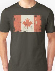 Grungy Canadian Flag T-Shirt