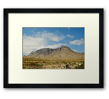 Big Bend Splendor Framed Print