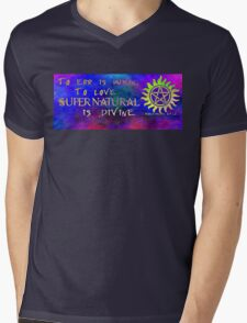To err is human, to love Supernatural is Divine 2 Mens V-Neck T-Shirt