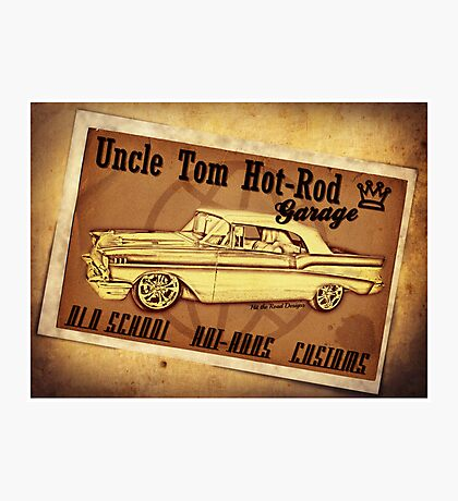 Uncle Tom Hot-Rod Garage Photographic Print