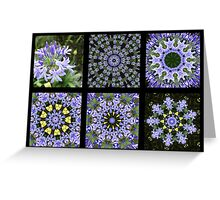 Beautiful Blue Designs Greeting Card