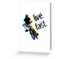 live. fast. airborne jump bike Greeting Card