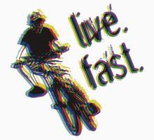 live. fast. airborne jump bike Kids Clothes