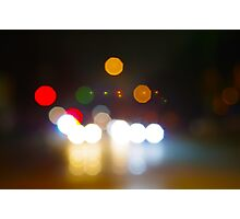 Abstract night scene on city road Photographic Print