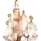 Bronzed Bottles by arline wagner