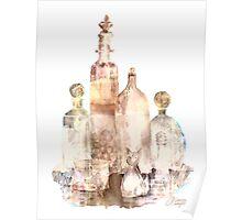 Bronzed Bottles Poster