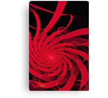 Red Ribbons Canvas Print