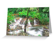 shot @waterfalls near Kumta Greeting Card