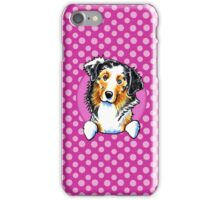 Australian Shepherd Seeing Spots iPhone Case/Skin