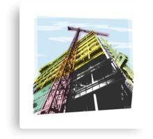 towerblock construction Canvas Print