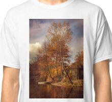 Morning impression with a white boat Classic T-Shirt