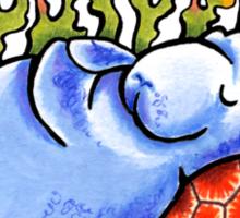 Sea Turtle and Manatee Sticker