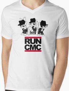 RUN CMC T-shirt (white) Mens V-Neck T-Shirt