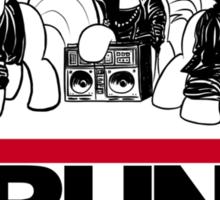 RUN CMC T-shirt (white) Sticker