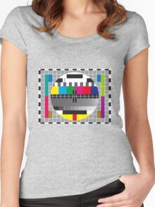 TV transmission test card Women's Fitted Scoop T-Shirt