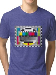 TV transmission test card Tri-blend T-Shirt