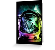 Astronaut Cat V.II Greeting Card