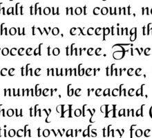The Holy Hand Grenade of Antioch Sticker