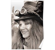 Steam Punk Girl With Smile Poster