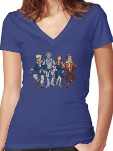 Wizard of Who Women's Fitted V-Neck T-Shirt