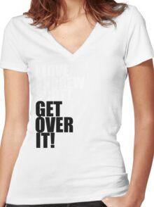 I love Andrew Scott. Get over it! Women's Fitted V-Neck T-Shirt