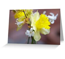 Yellow Flowers. Greeting Card