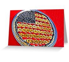 Fruity Flag Greeting Card