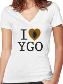 I <3 YU-GI-OH! Women's Fitted V-Neck T-Shirt
