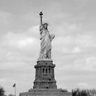 Statue of Liberty, New York (Black and White) by crhodesdesign