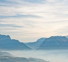 Mountains in the Mist by walter g. huber
