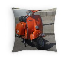 Orange Vespa Throw Pillow