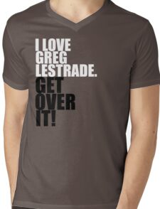 I love Greg Lestrade. Get over it! Mens V-Neck T-Shirt