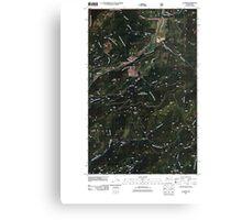 USGS Topo Map Washington State WA Aladdin 20110512 TM Canvas Print