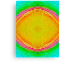 Psychedelic Sunburst - Bright Yellow & Green Canvas Print
