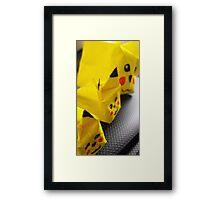 origami Pikachu family Framed Print