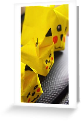 origami Pikachu family by Perggals© - Stacey Turner