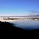 Fog inside Crater by cjcphotography