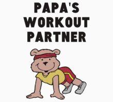 Papa's Workout Partner One Piece - Short Sleeve