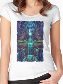 Waters Fall Women's Fitted Scoop T-Shirt