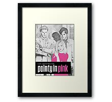 Pointy In Pink Framed Print
