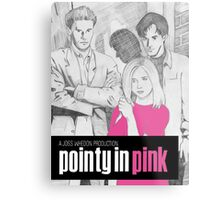 Pointy In Pink Metal Print