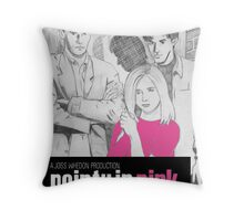 Pointy In Pink Throw Pillow